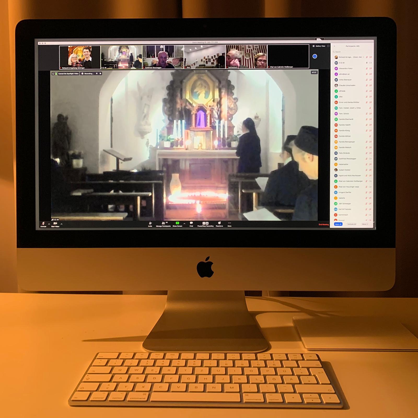 Online-Lichterrosenkranz